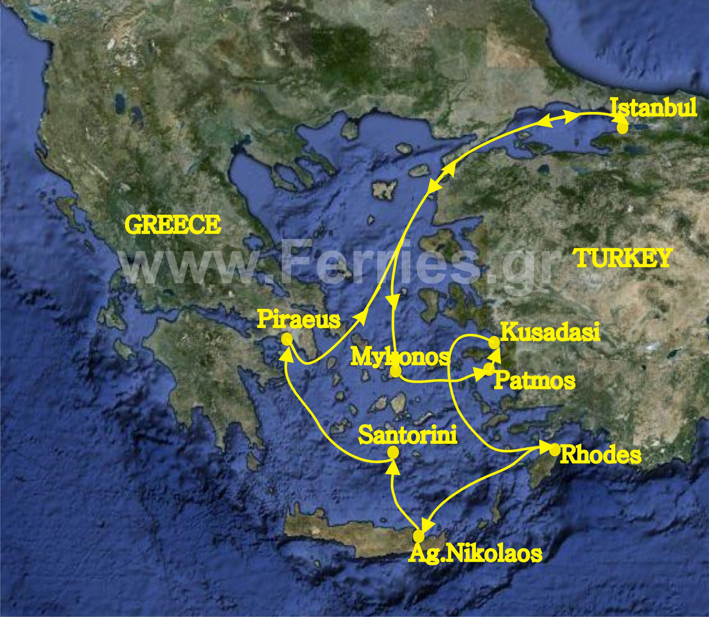 7 Day Cruise To Aegean Islands And Turkey Departure From